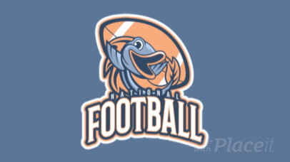 Animated Football Logo Maker Featuring a Fish Graphic 245rr-2935