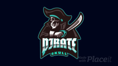 Animated Gaming Logo Maker for a Team with a Pirate Skull Graphic 2811z-2927