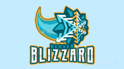 Animated Hockey Logo Maker with a Comet-Like Snowflake Graphic 1560k-2930