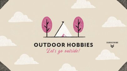 Youtube Banner Template for a Travel and Outdoor Activities Channel 2247