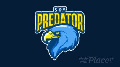 Sports Logo Template Featuring an Animated Eagle 120ll-2932