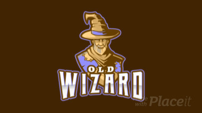 Gaming Logo Template Featuring an Animated Ancient Wizard 1877n-2932