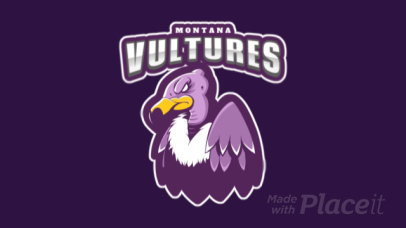 Animated Mascot Logo Generator for Sports Teams With a Vulture Illustration 120mm-2937