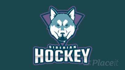 Animated Hockey Logo Generator Featuring a Siberian Husky Illustration 1560l-2937