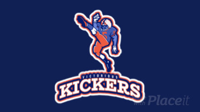 Sports Logo Generator Featuring an Animated Football Player Kicking 245uu-2929
