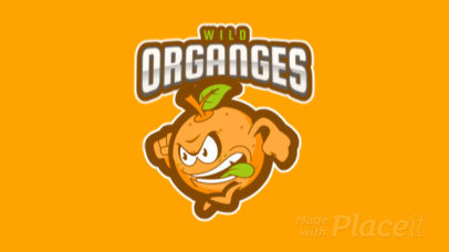 Animated Sports Logo Creator Featuring an Orange Mascot a484p-2930