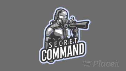 Animated Logo Template with a Shooter Character for a Gaming Squad 1743x-2932