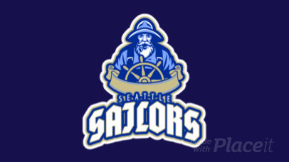 Animated Sports Logo Creator with a Sailor Character Graphic 29cc-2932