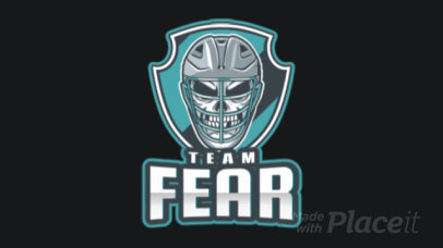 Animated Gaming Logo Creator with a Deadly Hockey Player 1560m-2937