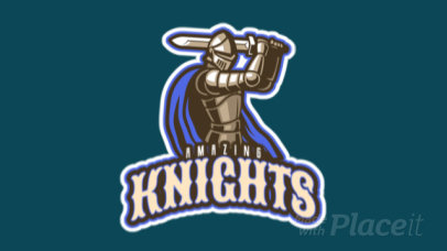 Animated Gaming Logo Creator with an Armored Knight 29dd-2927