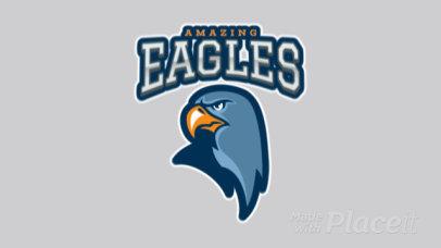 Animated Sports Logo Creator Featuring an Aggressive Eagle 120pp-2927