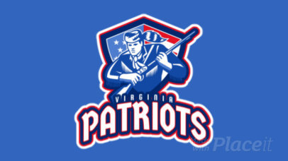 Animated Sports Logo Maker with an American Patriot Illustration 29dd-2929