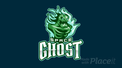 Creepy Logo Creator with an Animated Ghost Graphic for a Gaming Team 1877w-2926