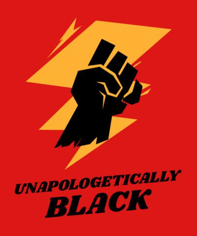 T-Shirt Design Generator with a Fist Graphic and a Black History Month Phrase 2040n-2264