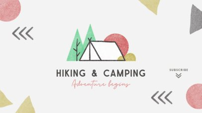 YouTube Banner Generator for Hiking and Camping Activities 2247c