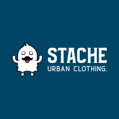 Streetwear Logo Maker Featuring a Mustached Monster 252d-el1
