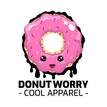 Cool Apparel Logo Creator with a Cartoonish Donut Graphic 252g-el1