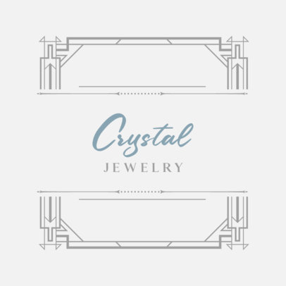Jewelry Store Logo Generator with Art Deco Styled Graphics 796a-el1