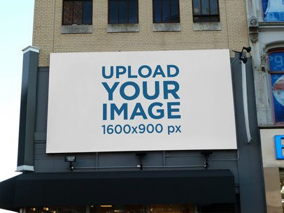 Mockup of a Billboard Placed over a Store 2744-el1