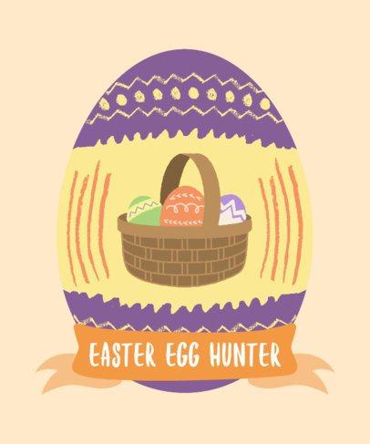 T-Shirt Design Maker Featuring a Basket of Easter Eggs 2223c