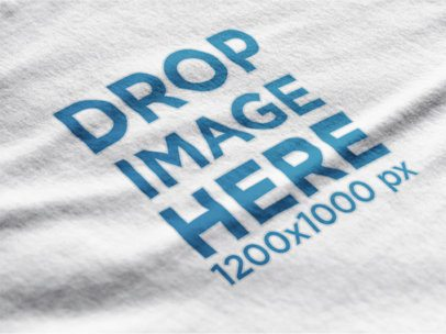 Close-Up Mockup of a Round Neck T-Shirt 12009