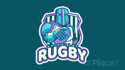 Animated Sports Logo Template Featuring a Rugby Knight Graphic 1616r-2936