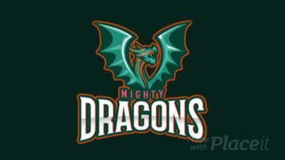 Animated Gaming Logo Template Featuring a Winged Dragon Graphic 2689p-2936