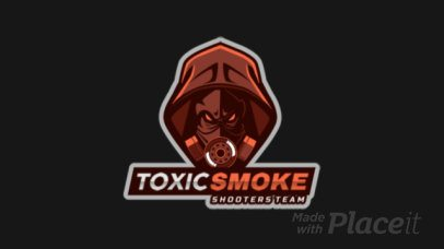 Gaming Logo Creator Featuring an Animated Aggressive Character with an Oxygen Mask 2754z-2936