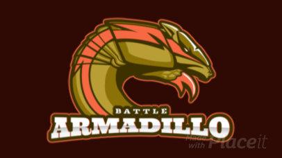 Animated Cricket Team Logo Maker Featuring an Aggressive Armadillo 1649k-2936