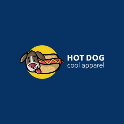 Streetwear Logo Creator with a Funny Illustration of a Hot Dog 264d-el1