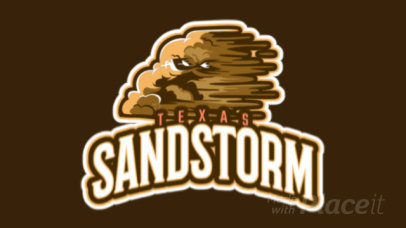 Animated Logo Maker for a Cricket Team Featuring a Sandstorm Cloud Character 1651q-2936