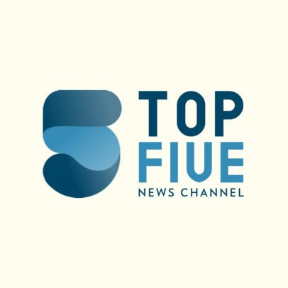 News Channel Logo Maker with a Modern Abstract Icon 801c-el1