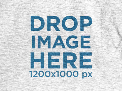 Close-Up Heather T-Shirt Mockup in Front View a12018