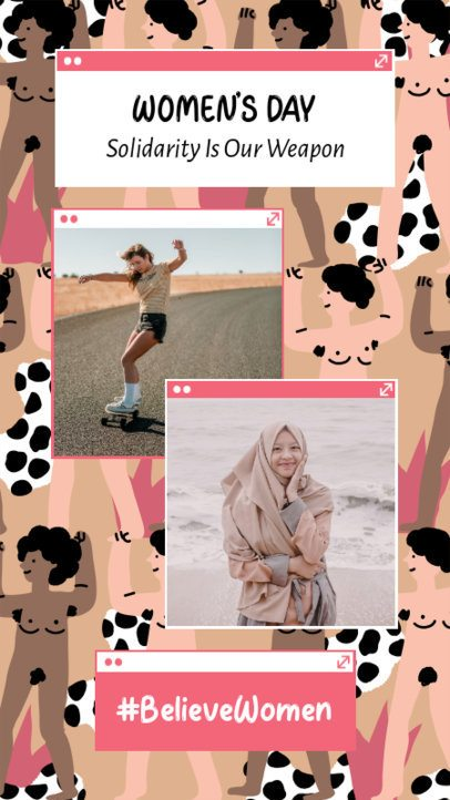 Instagram Story Creator For Women's Day Featuring Pictures of Women 2261n