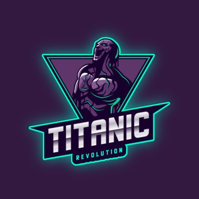 Gaming Logo Template with a Powerful Titan Graphic 2920b