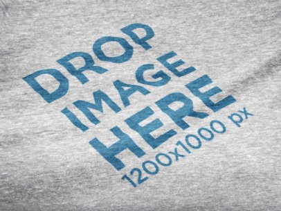 Heather T-Shirt Close-Up Mockup in Angled View a12017