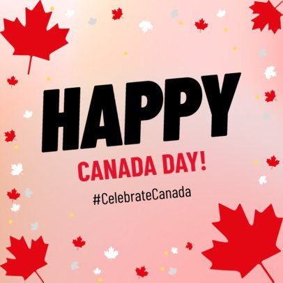 Instagram Post Template for a Canada Day Post 636g-2234