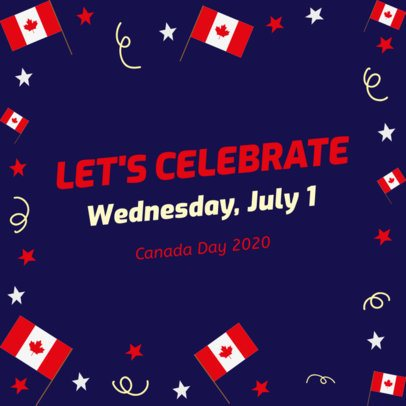 Instagram Post Maker To Celebrate Canada Day 636h-2234