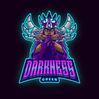Gaming Logo Template Featuring a Warrior Queen 2915d