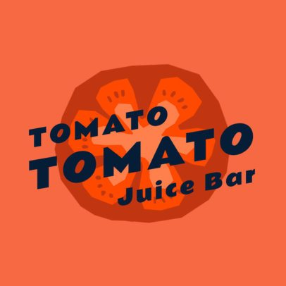 Logo Maker for Juice Bars Featuring a Tomato Illustration 2924c