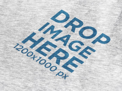 Angled Heather T-Shirt Mockup in a Close-Up View 12020
