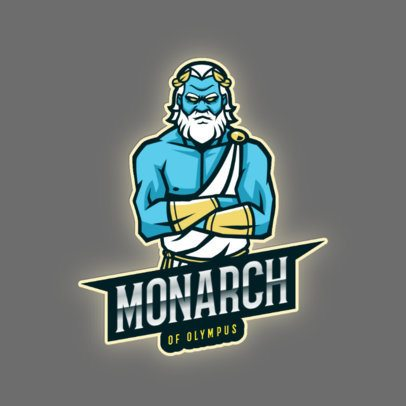 Gaming Logo Maker with a Mad Greek God 2920i