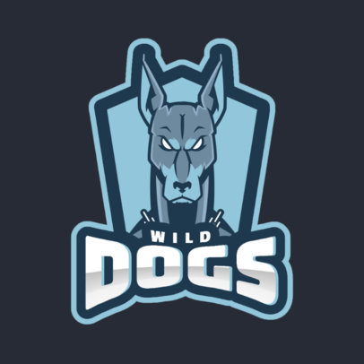 Sports Logo Generator Featuring an Aggressive-Looking Dog 1560o 2964