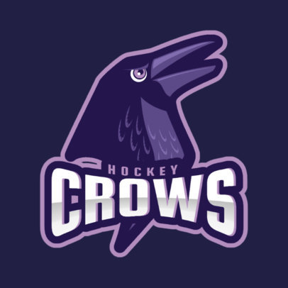 Hockey Team Logo Maker Featuring a Crow 1560p-2964