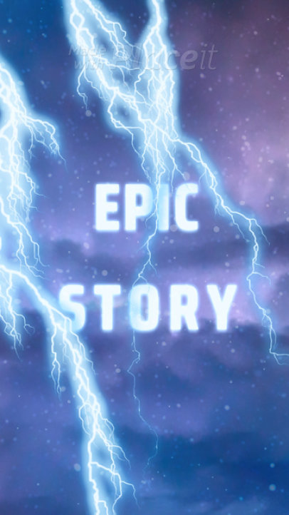 Instagram Story Video Maker Featuring Epic Lightning Animations 1922