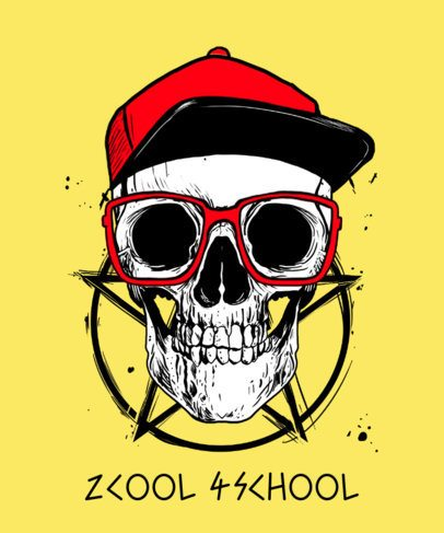 T-Shirt Design Generator Featuring a Hipster Skull Graphic 2286b