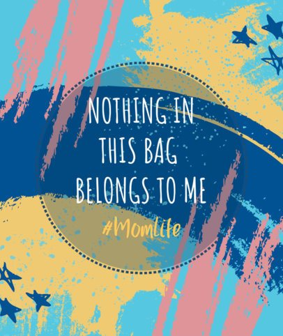 Tote Bag Design Generator with a Cool Quote 2287a