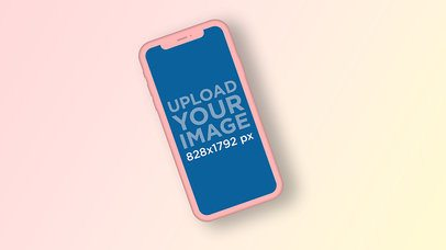 Color-Custom iPhone 11 Mockup with a Gradient Background 2943-el1