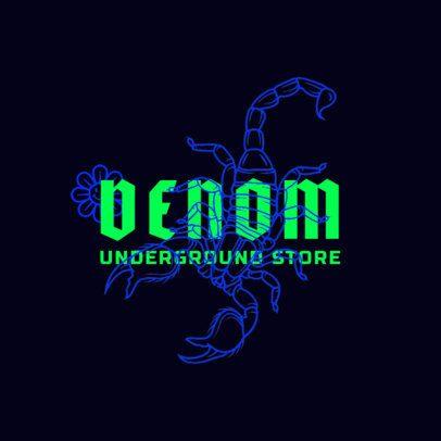 Streetwear Logo Maker Featuring a Scorpion Graphic 2954E