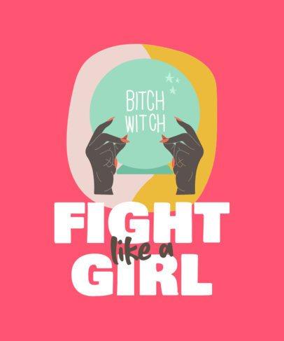 Feminist T-Shirt Design Maker Featuring a Short Quote 835b-el1